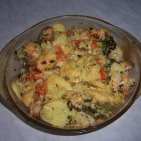 Zapiekanka warzywna z kurczakiem