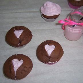 Cupcakes z serduszkami