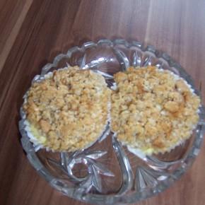 Muffinkowe serniczki z kokosowo - ciasteczkową kruszonką