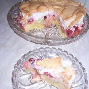 Ciasto rabarbarowe z nutą kokosową