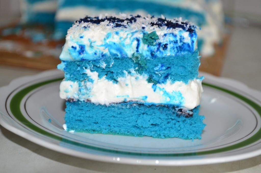 Tort niebieski