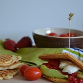 Wytrawne gofry i mus truskawkowy z olejem rzepakowym